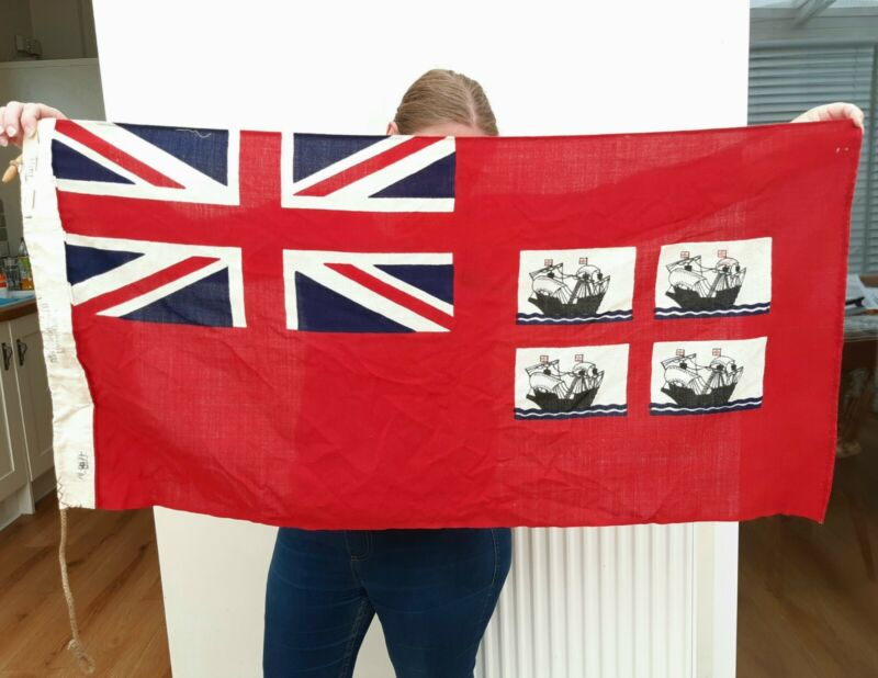 Original Trinity House Red Ensign Lighthouse Flag - Old Higher - 1981