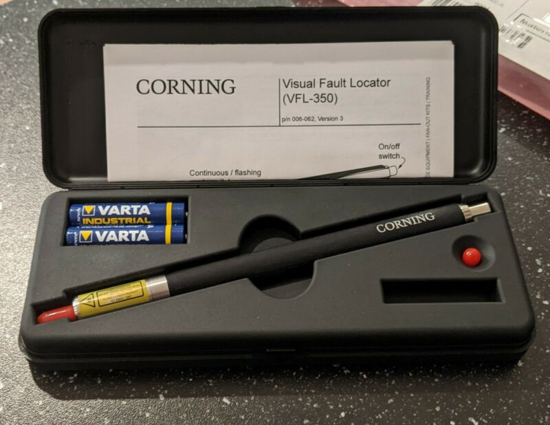 Corning VFL-350 Fiber Optic Visual Fault Locator Pen **New w/case (GA6)