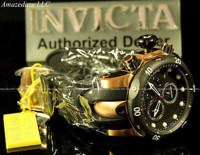 NEW Invicta Mens Venom Swiss Made ETA Chronograph 18K Rose GP Stainless St.Watch