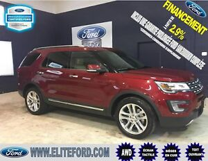FORD EXPLORER LIMITED 2017,TOIT, GPS, REMORQUAGE 5000 LBS, AWD