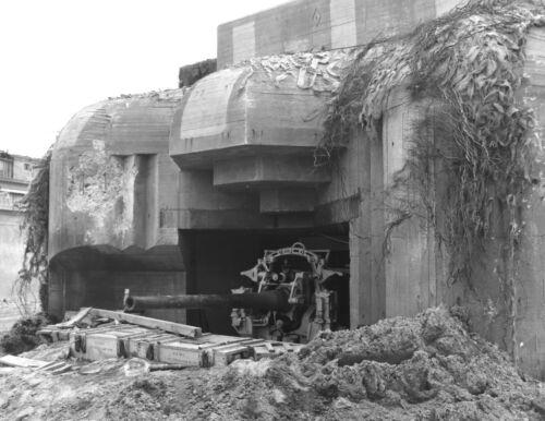 1944-Captured German Bunker-Battle of Cherbourg France-Part Battle of Normandy