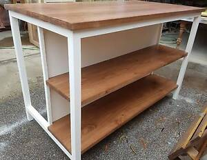 Made to order wooden Kitchen Island / bar table with storage