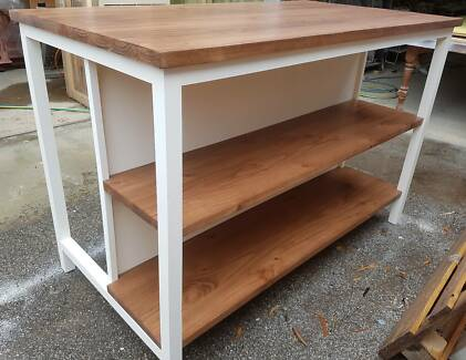 Made to order wooden Kitchen Island / bar table with storage Lonsdale Morphett Vale Area Preview