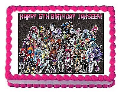 Monster High Edible Cake Decorations (MONSTER HIGH edible party cake decoration cake topper cake image frosting)
