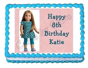 American Girl McKenna edible party cake topper cake image sheet