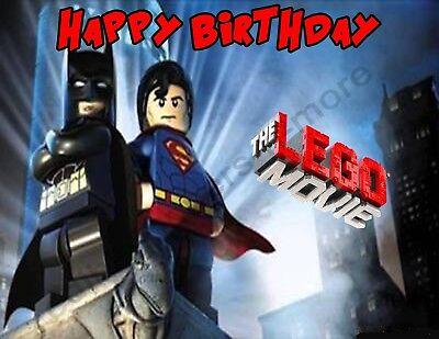 Lego Batman vs Superman Personalized Edible Print Cake Topper Sheets 5 Sizes  (Lego Batman Cake)