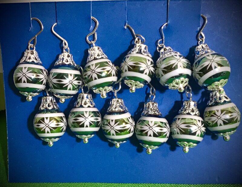 westrim beaded mini christmas tree ornaments set of 12 dollhouse any mini tree