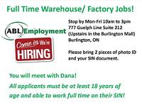 STOP BY TO APPLY FOR GENERAL LABOUR JOBS IN BURLINGTON!