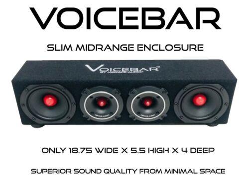 VOICEBOX® VOICEBAR®  Menace Audio®-High Output Slim Profile Midrange Enclosure
