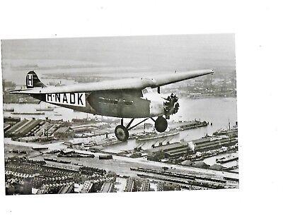 KLM Photo Fokker H-NADK 1927 black and white 23 x 15 cm