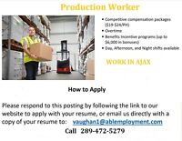 Production Worker - Ajax