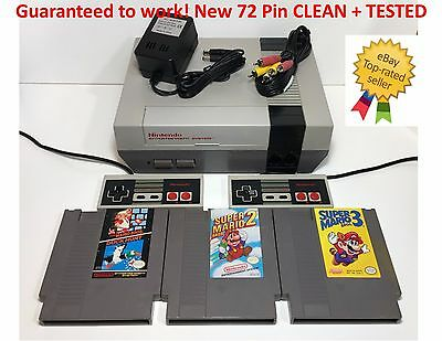 Nintendo NES Console System Bundle NEW PIN Games Super Mario Bros. 1 2 3