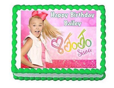JoJo Siwa party edible cake image cake topper frosting sheet decoration