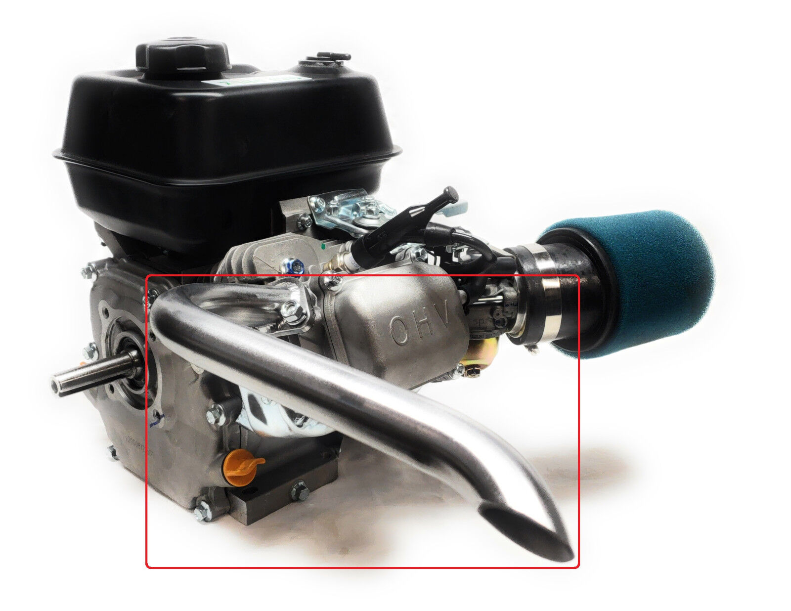 Mini Bike Exhaust Header Pipe for: Predator 212cc, Honda GX1
