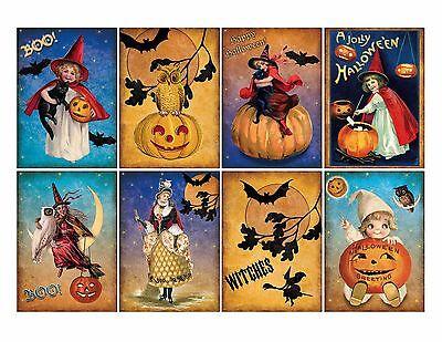 8 Halloween ATC Cards Hang Tags - Scrapbooking, Paper Crafts (131) (Halloween Atcs)