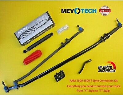 RAM 2500 3500 T Style Steering Upgrade Kit Tie Rod Inner Outer 03-13 MEVOTECH