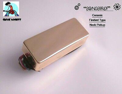 G.M. SongBird Firebird Type Neck Pickup Ceramic 5 Magnets Gold (Firebird Pickup)
