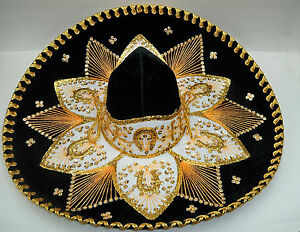 Authentic Mexican Mariachi-Sombrero Charro Hat True Adult 23