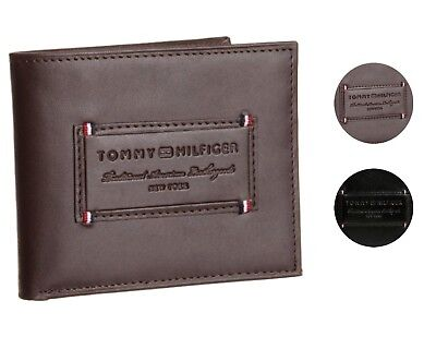 Tommy Hilfiger Mens Premium Leather Credit Card Id Wallet Passcase 31Tl220061