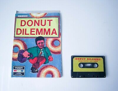 Computer Games - DONUT DILEMMA - TANDY COLOR COMPUTER