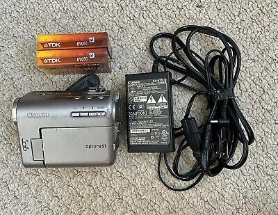 Canon Optura S1 Mini DV Camcorder - RARE Original Owner - with Chargers & Tapes