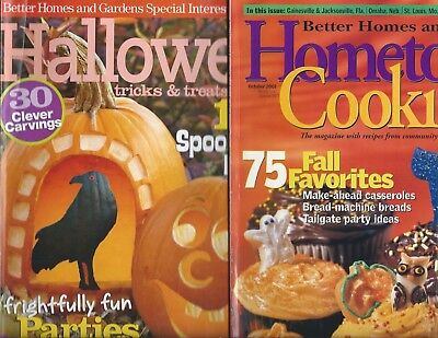 Lot 2 Better Homes & Gardens BHG Halloween Magazines Cooking Party Ideas - Garden Party Ideas