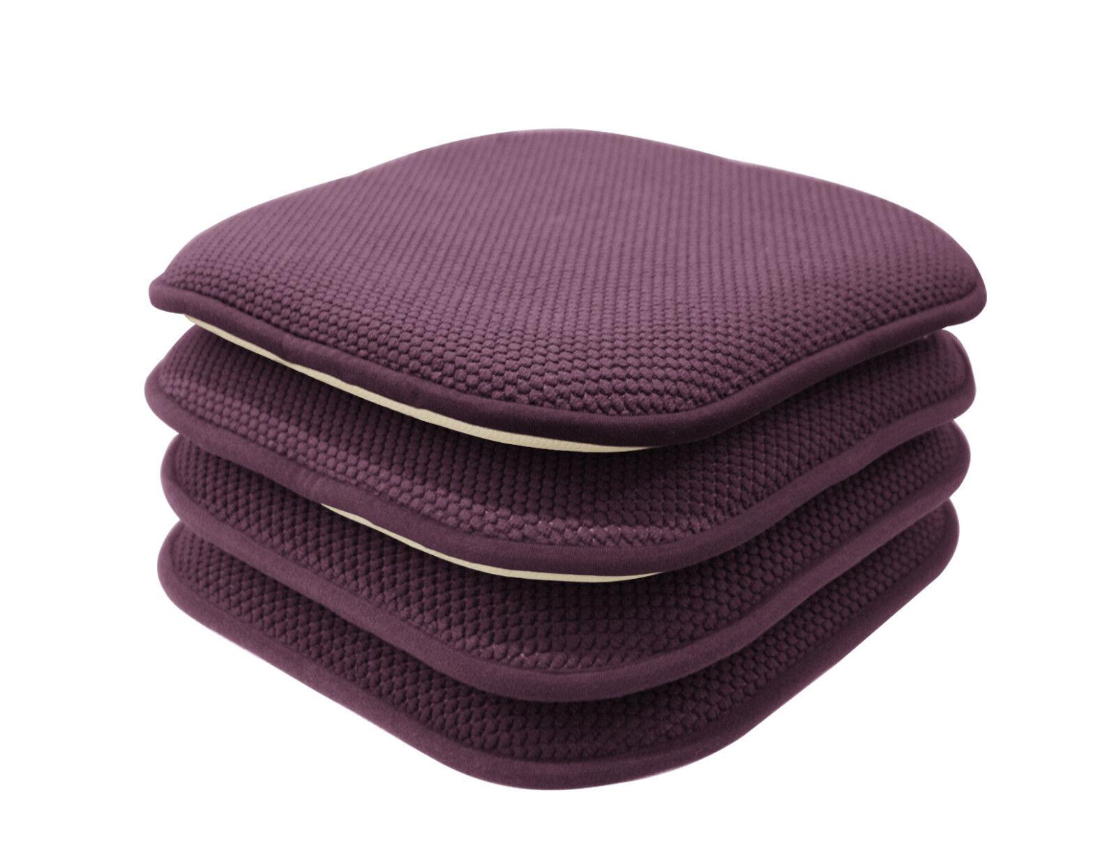 4 Pack: Non Slip Honeycomb Premium Memory Foam Chair Cushions   Assorted  Colors