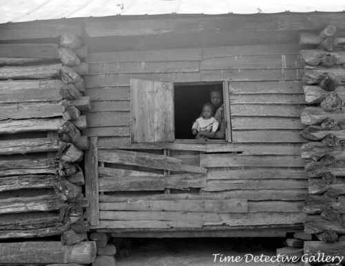 African American Mother and Child, Woodville, Georgia -1941- Vintage Photo Print