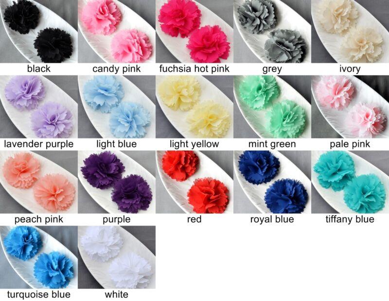 10 pcs Chiffon Flower Soft Fabric Rose Flower Silk Bridal Wedding Craft Supplies