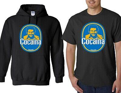 COCAINA Funny T-Shirt - Pablo Escobar Banana Sticker Parody NARCOS Plata O Plomo - Funny Banana