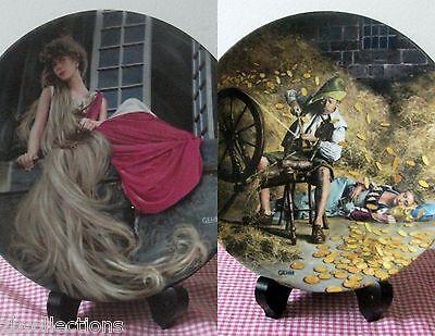 RUMPELSTILZCHEN & RAPUNZEL 2 Plates GRIMMS FAIRY TALE series BRADEX CHARLES - Rapunzel Plates