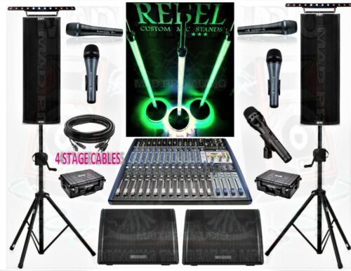 BAND SYSTEM LIVE SOUND STAGE SYSTEM HIGH END BAND EQUIPMENT PRO AUDIO GEAR
