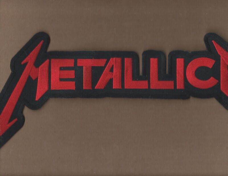 NEW 7 1/4 X 15 1/4 INCH METALLICA RED IRON ON PATCH FREE SHIPPING