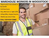 Full-Time Warehouse Openings - CALL 519-914-5366 TODAY!