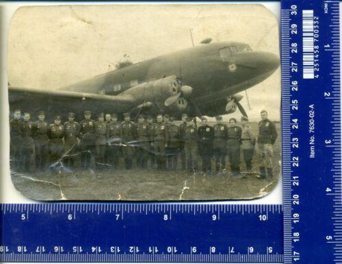 WW Vintage pilot War heroes Women Photo airplane ПС-84 ЛИ-2 aviation USSR Badge