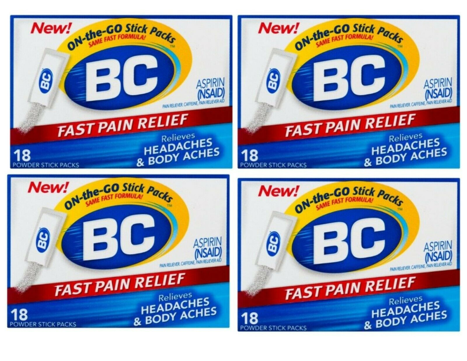 BC Pain Reliever Headache Powders Expires 9/21 ~ 72 Count
