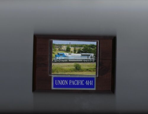 UNION PACIFIC 4141 PLAQUE US USA TRAIN PRESIDENT GEORGE H.W. BUSH