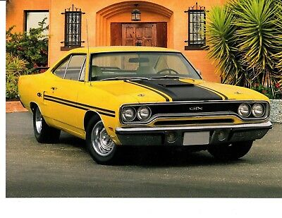 (1970 PLYMOUTH GTX ~ NICE CALENDAR PHOTO / PICTURE / AD )