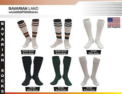 Bavarian Oktoberfest Lederhosen German Men 2 Piece Long Socks Pair Casual - Lederhosen Socks