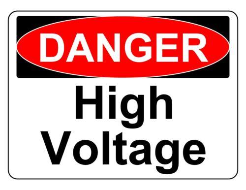 DANGER HIGH VOLTAGE OSHA DECAL SAFETY SIGN STICKER 3M USA MADE