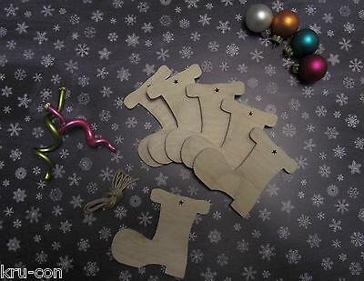 Geschenkanhänger für Weihnachten - Motiv Stiefel Geschenk basteln Kinder ()
