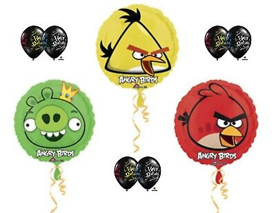 Angry Bird Party Supplies (Angry Birds Party Supplies Balloons Happy Birthday)