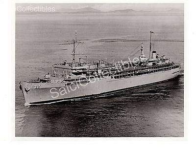 US Navy Ship Submarine Tender Dixon AS-37 Official Photo 8x10