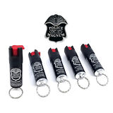5 Police Magnum pepper spray .50oz keyring keychain defense security protection
