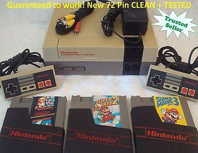 Nintendo Nes Console System Bundle New Pin Game Lot Super Mario 1 2 3 Trilogy