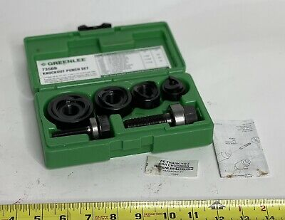 Greenlee 735bb Ball Bearing Knockout Punch Set Round Knock Out Set 735
