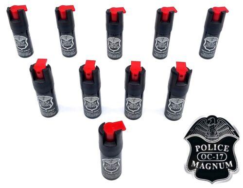 10 PACK Police Magnum pepper spray 1/2oz unit safety lock self defense security
