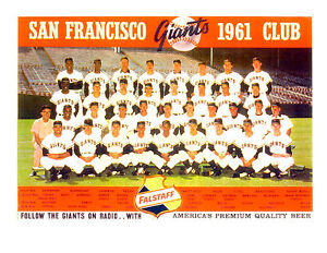 1961 SAN FRANCISCO GIANTS TEAM PHOTO MAYS McCOVEY   BASEBALL CALIFORNIA