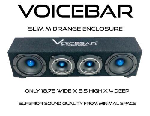 VOICEBOX® VOICEBAR®  Menace Audio®-High Output Slim Profile Midrange Enclsoure