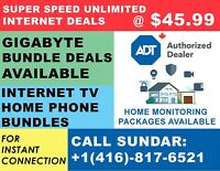 HIGH SPEED  INTERNET Low &  Fixed price  $34.95  | TV & PHONE